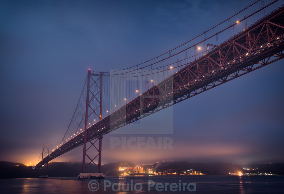 """Bridge in Lisbon"" stock image"