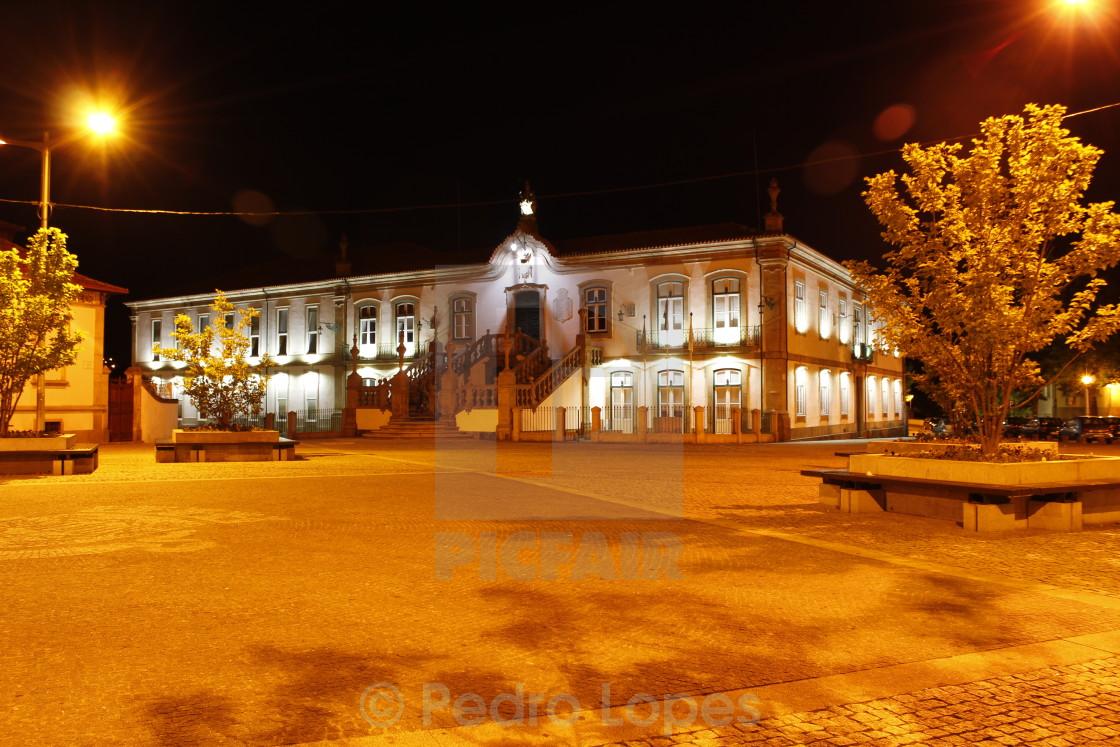 """Town Hall of Vila Real, Portugal"" stock image"