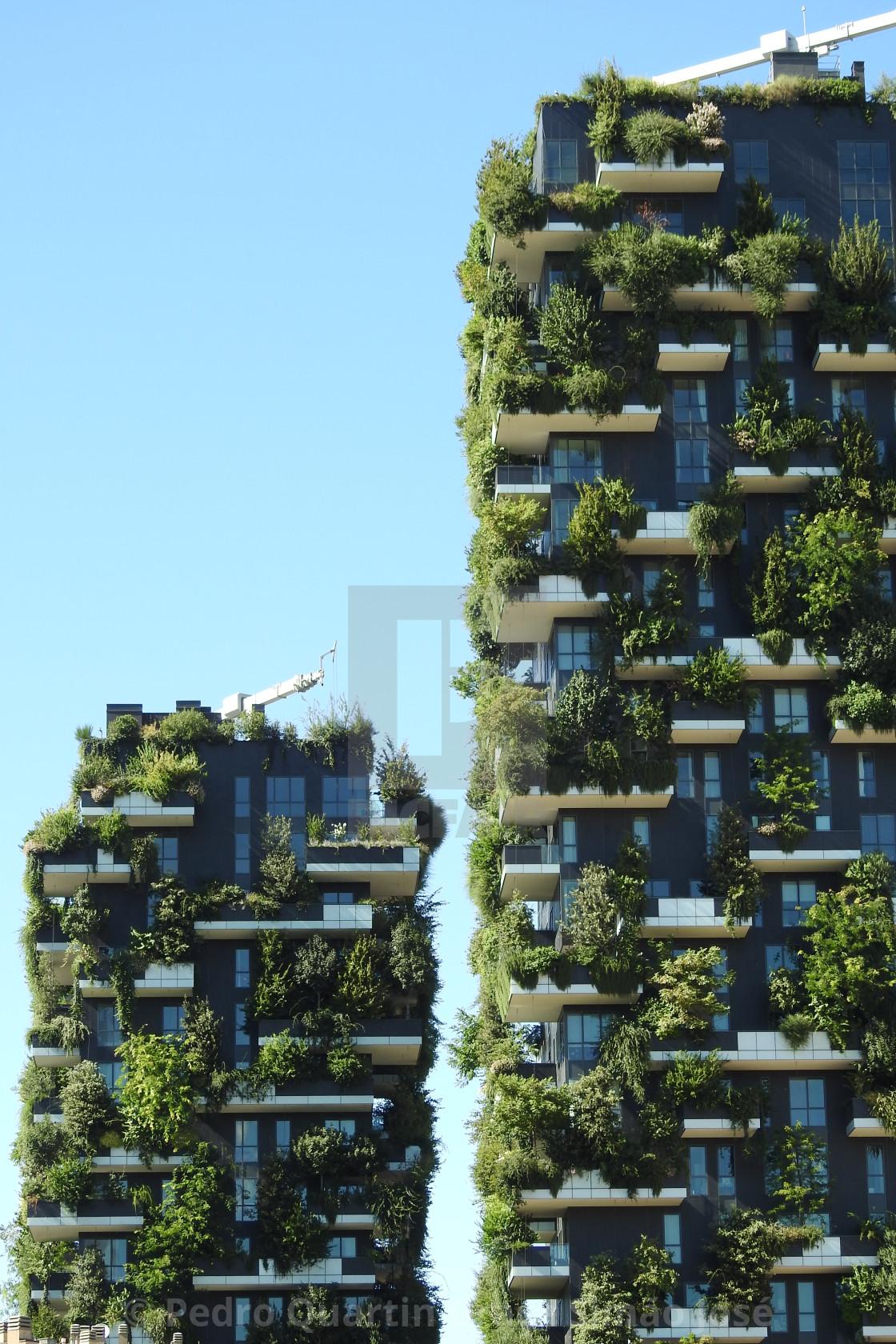 Foto Bosco Verticale Milano bosco verticale, vertical forest, milan, italy - license