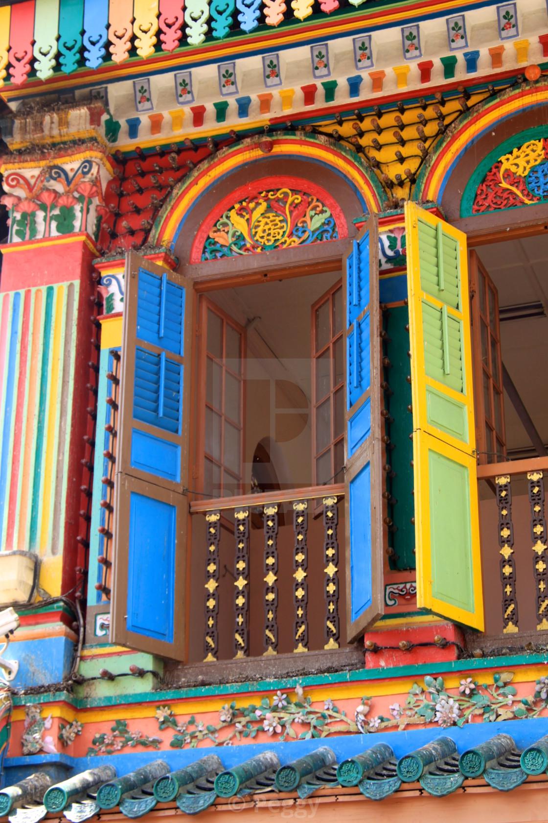 """""""Little India Window"""" stock image"""