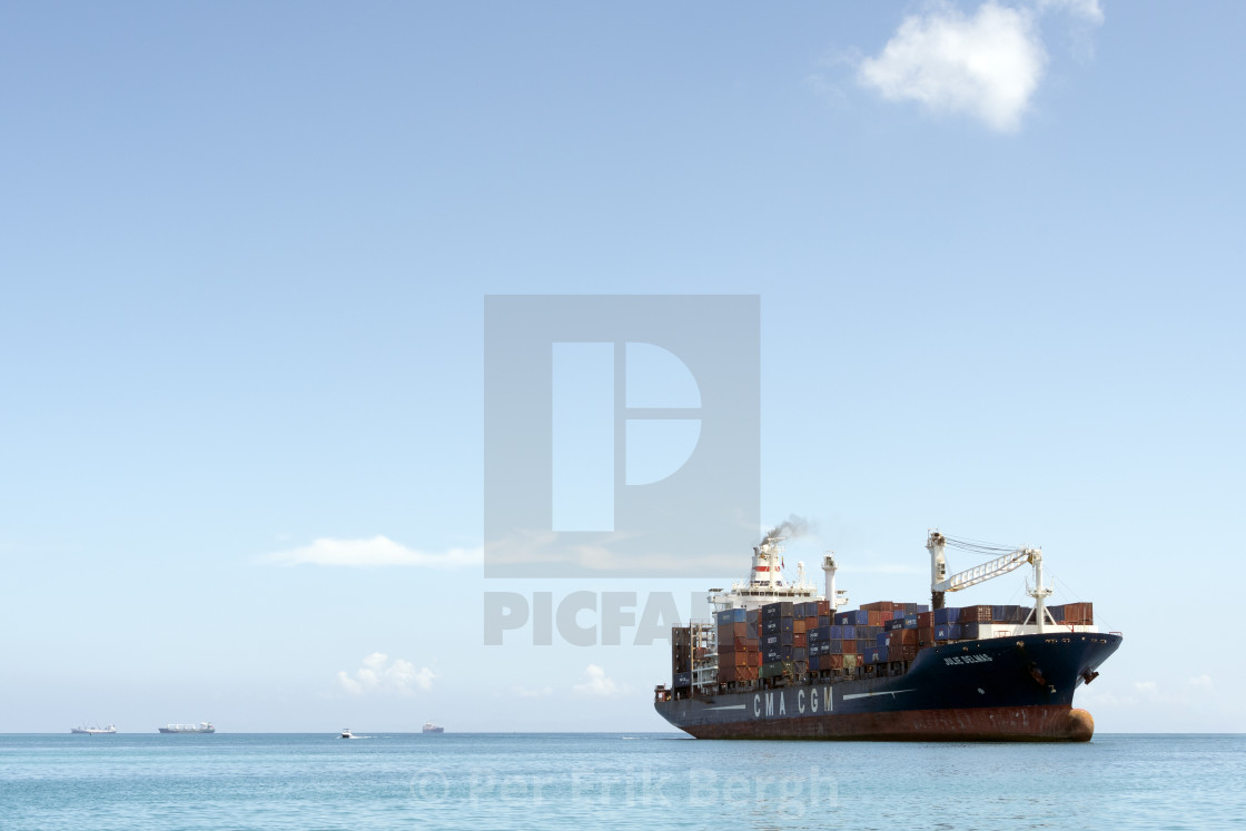 """Container ship"" stock image"
