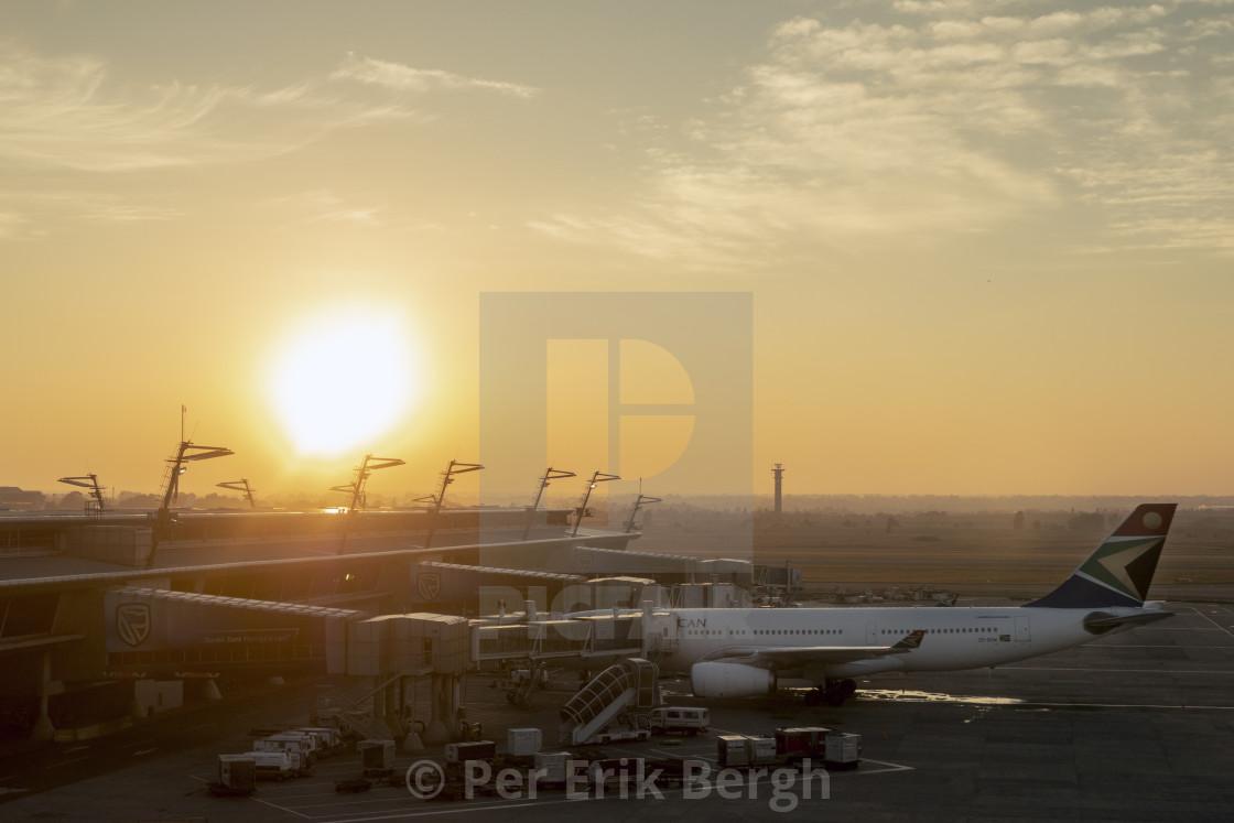 """Airport sunrise"" stock image"