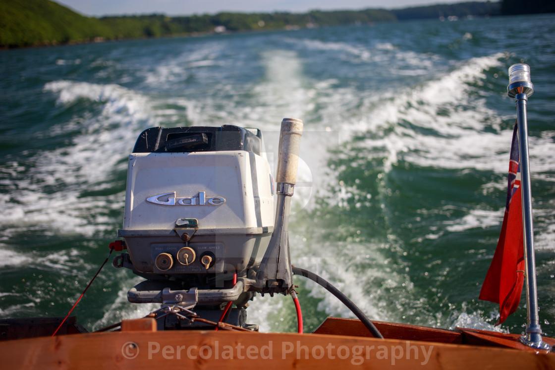 Vintage speed boat stern
