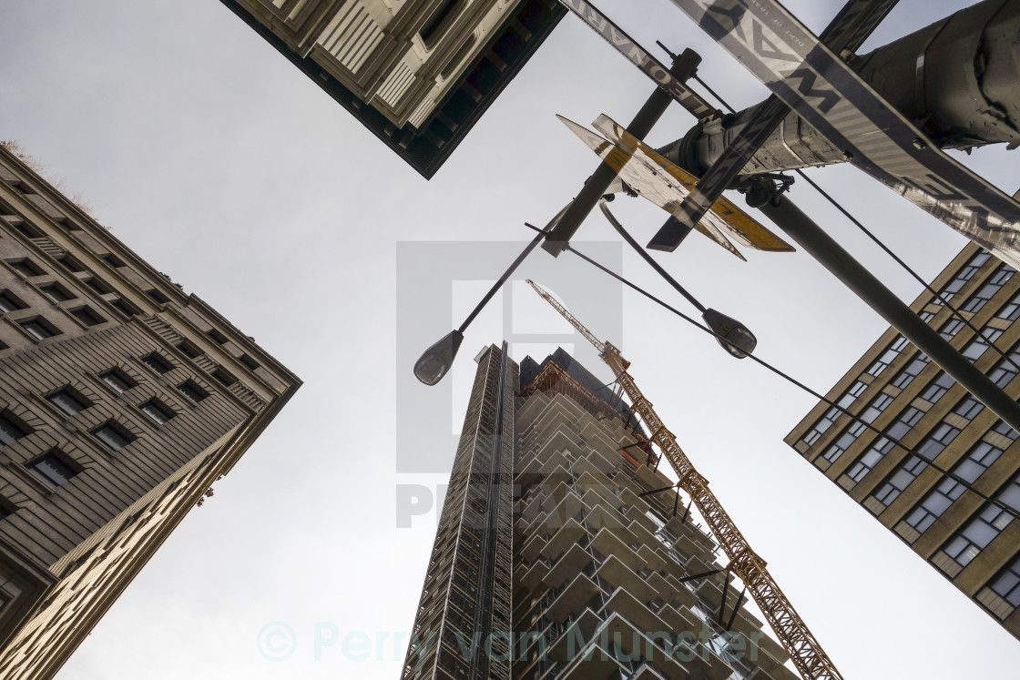 """Skyscrapers from below"" stock image"