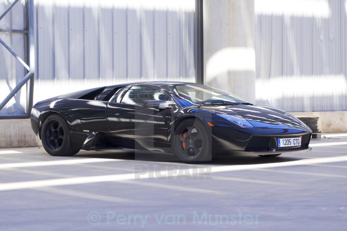 Black Lamborghini Murcielago Roadster License Download Or Print
