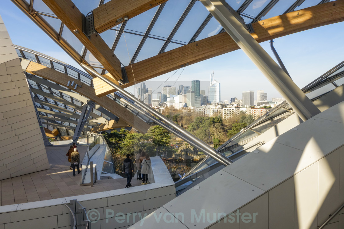 """Louis Vuitton Foundation, by architect Frank Gehry,"" stock image"