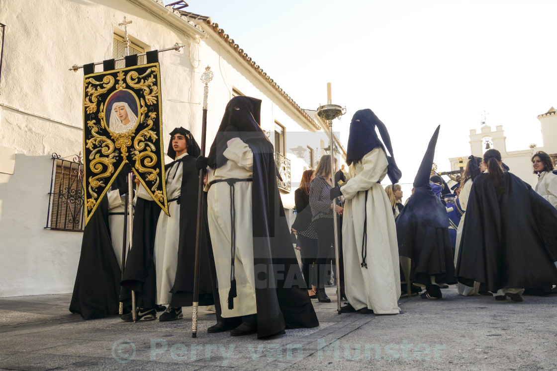 """Easter Procession in Spanish village"" stock image"
