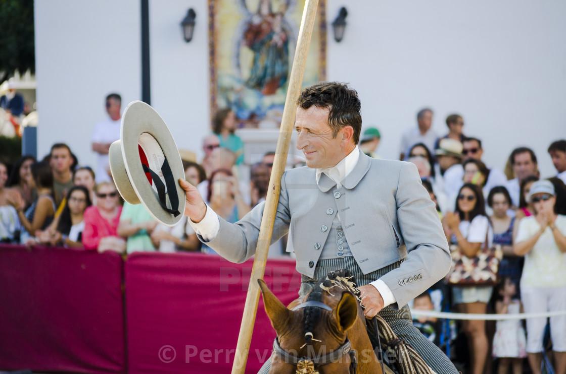 """Day of the horses, horse dressage celebration, event, Fuengirola, Málaga, Andalusia, Spain."" stock image"
