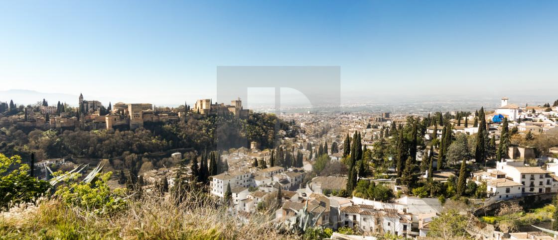 Granada Spain, Albayzin (Albaicin) moorish quarter - License