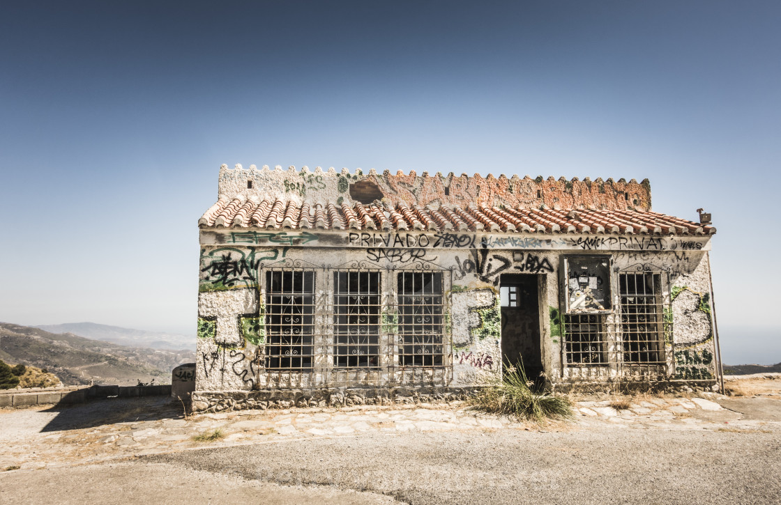 """Abandoned spanish house"" stock image"