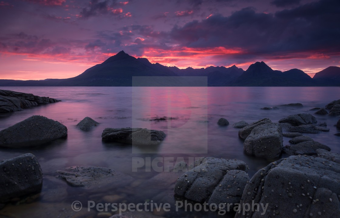"""Skye on fire"" stock image"