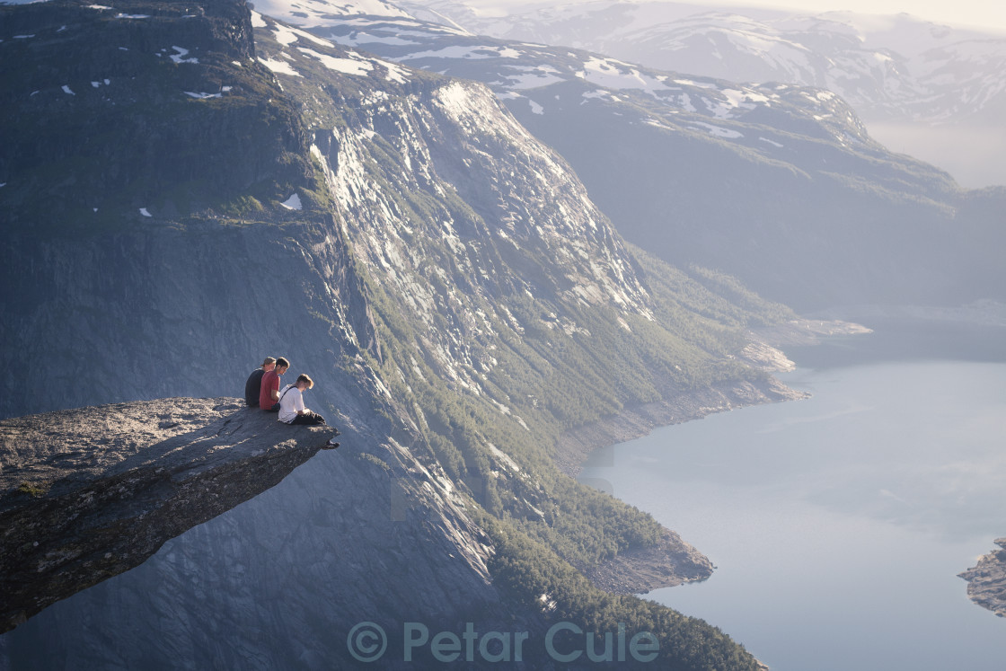 """On the edge"" stock image"