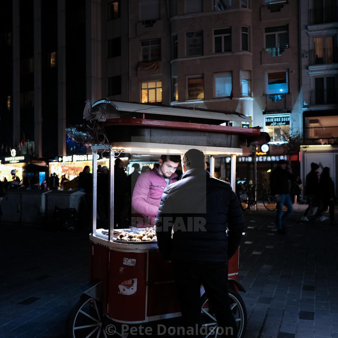 """""""Istanbul chestnut seller"""" stock image"""