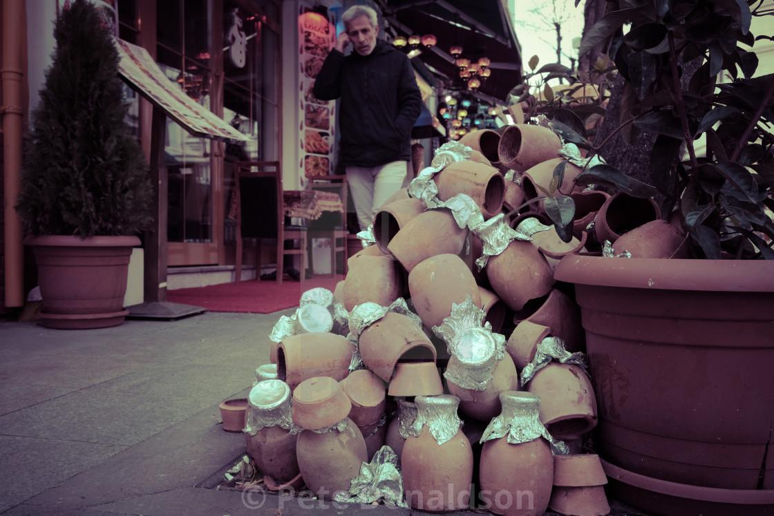"""Istanbul clay pot"" stock image"