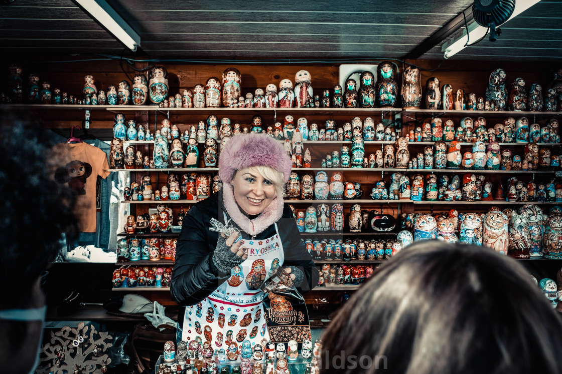 """Russian doll seller"" stock image"