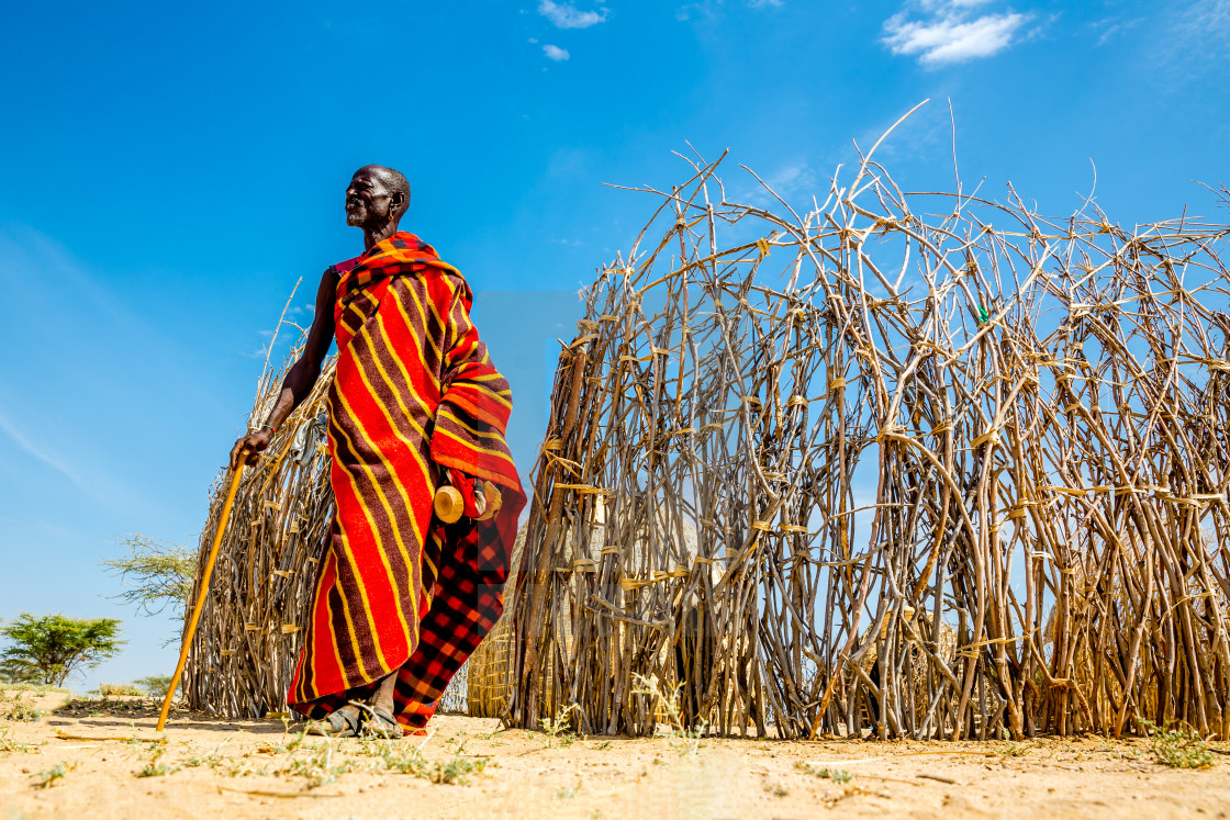 """Turkana tribesman"" stock image"