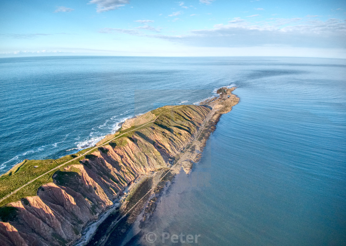 """""""Filey Brigg from up above"""" stock image"""