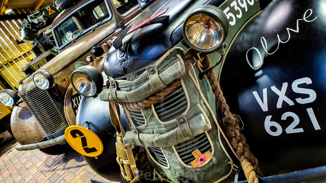"""Vintage Wartime Vehicles"" stock image"