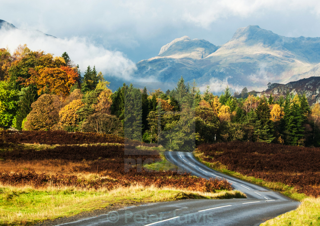 """The Long and Winding Road"" stock image"