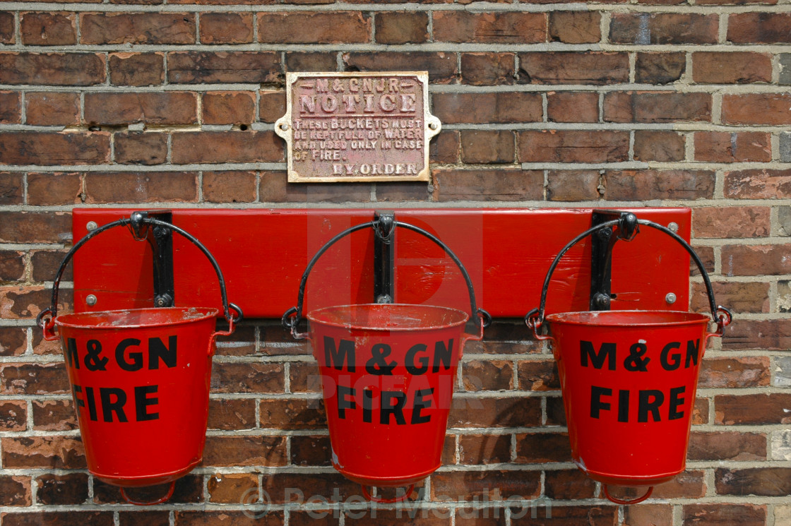 """Fire Buckets"" stock image"