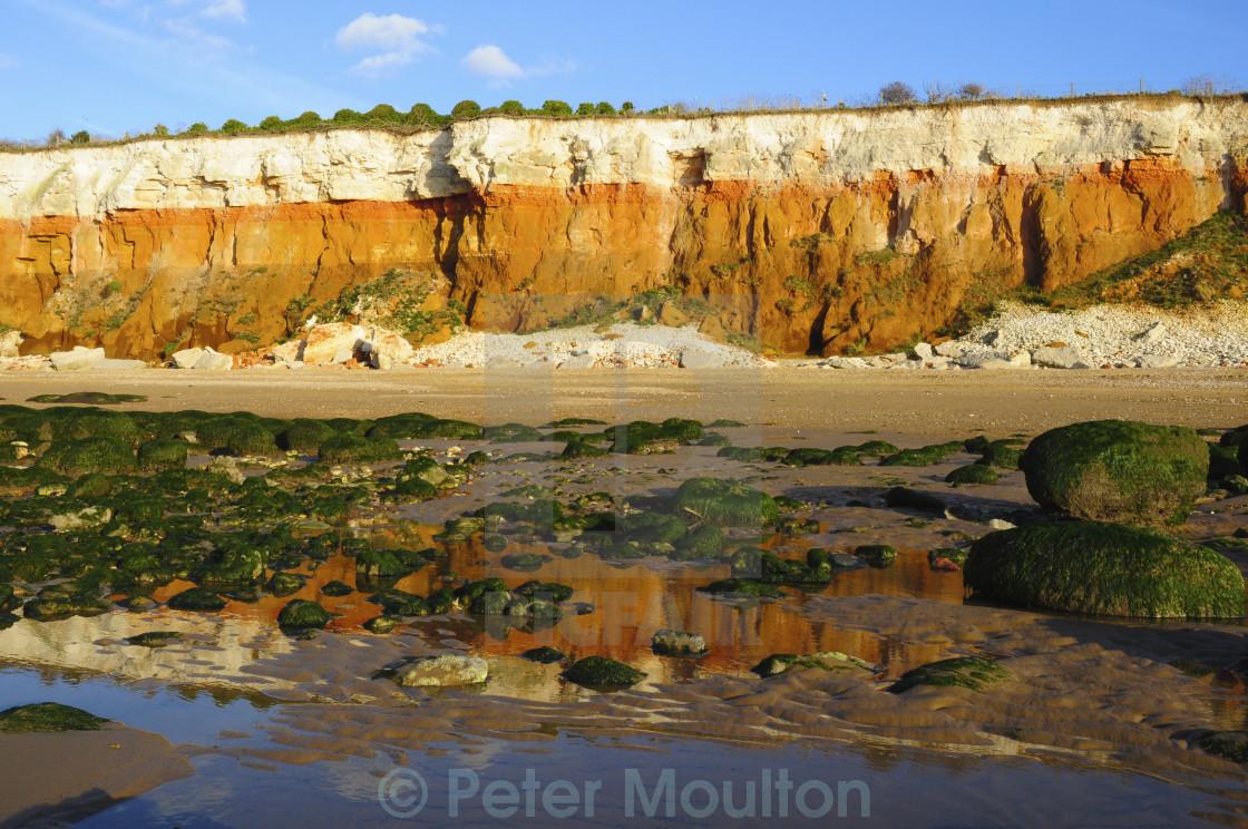 """Cliffs and beach, Hunstanton"" stock image"