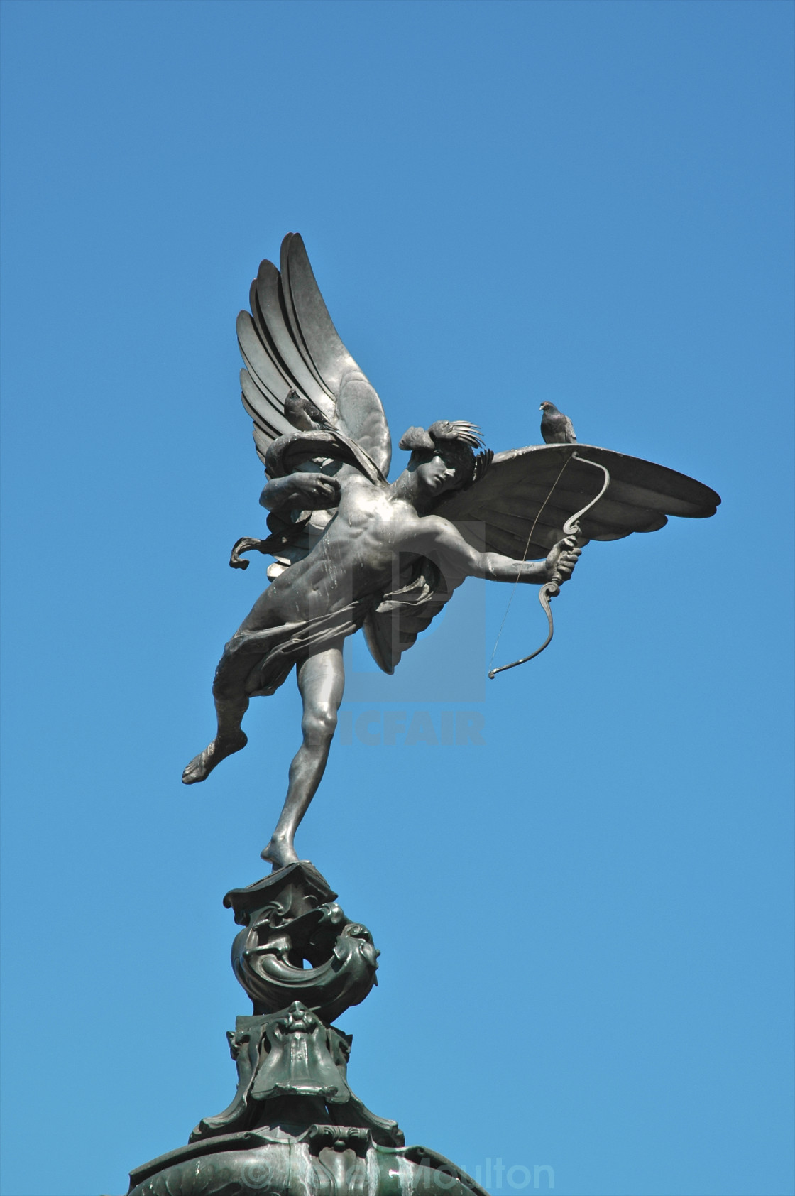 """Statue of Eros, London"" stock image"