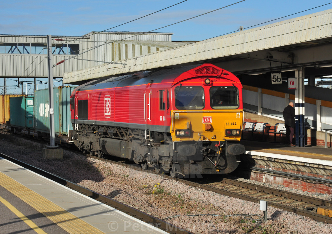 """DB Class 66, Peterborough"" stock image"
