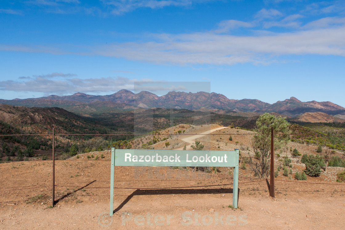 """Razorback Lookout, Flinders Ranges, SA"" stock image"