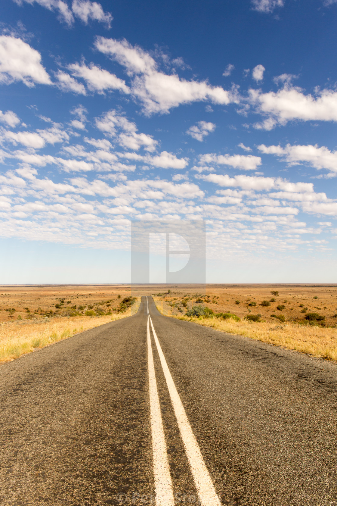 """Outback Road, Mundi Mundi Plains, Australia"" stock image"