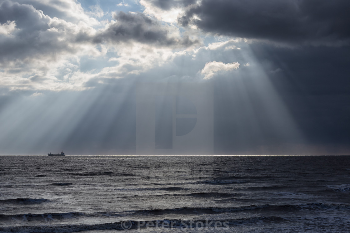 """North Sea sunbeams"" stock image"