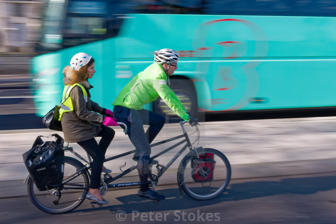 """Tandem Riders, London"" stock image"