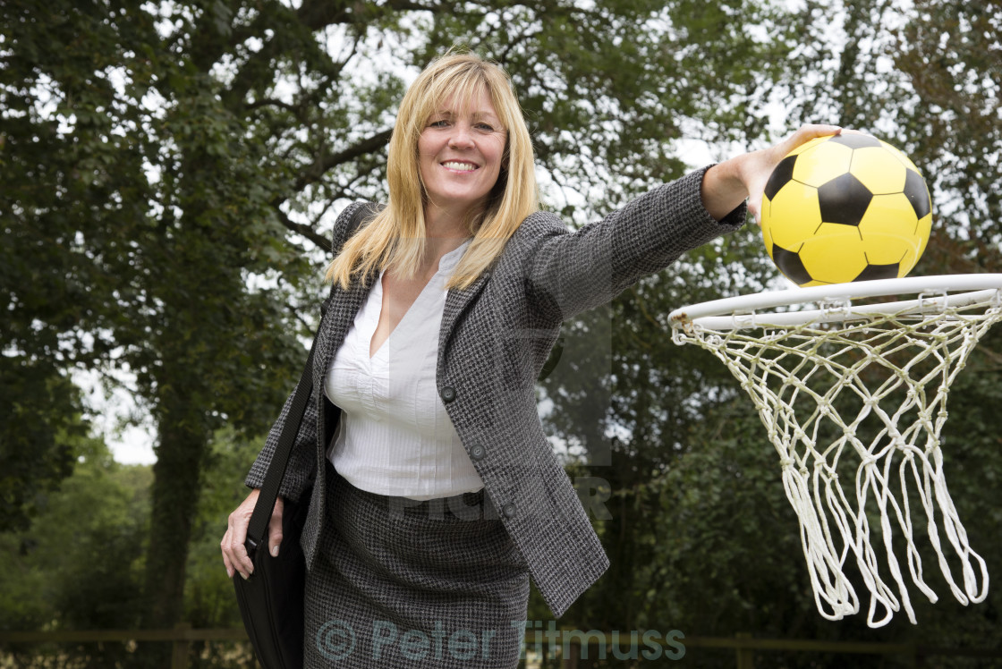 """""""Businesswoman achieving her goal"""" stock image"""