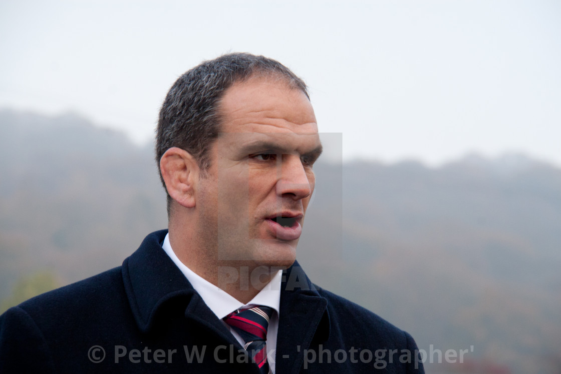 """Martin Johnson CBE. Inspirational Ex Captain of England Rugby Union Team"" stock image"