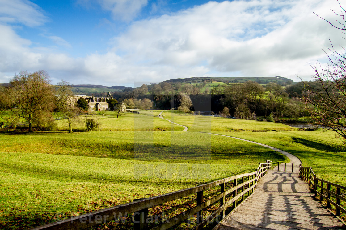 """""""Path at Bolton Abbey, Wharfedale"""" stock image"""