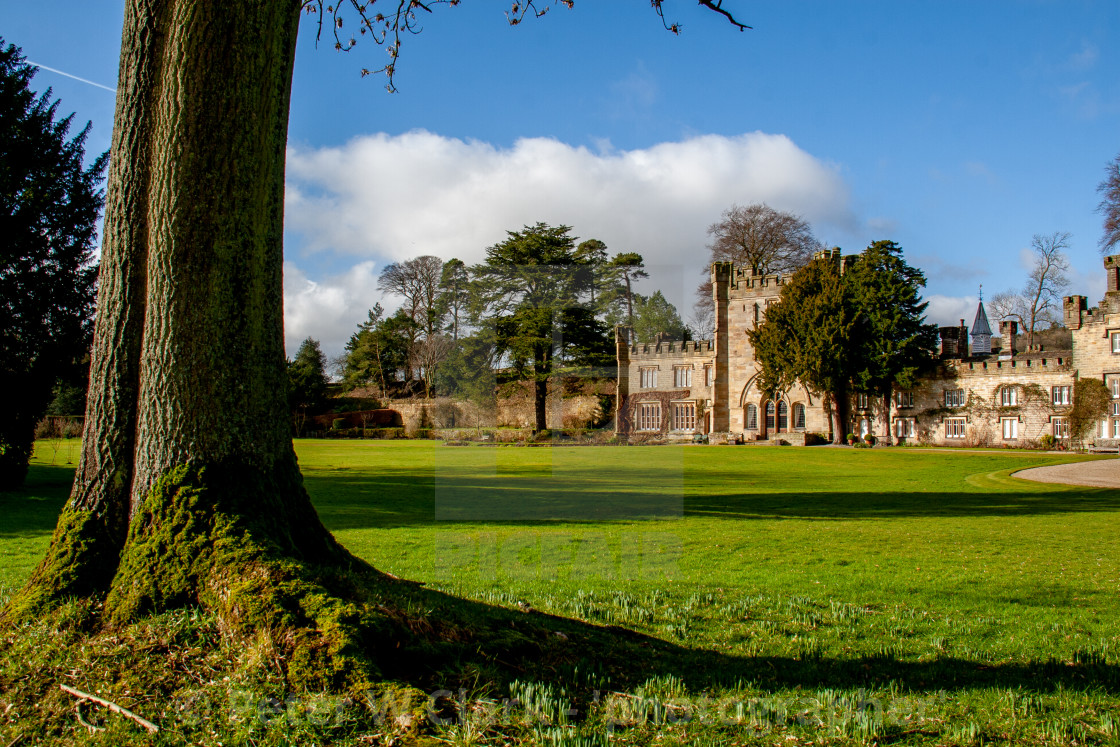 """Bolton Abbey Hall"" stock image"