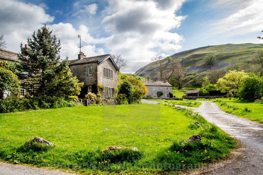 """""""Houses in Conistone, Yorkshire Dales"""" stock image"""