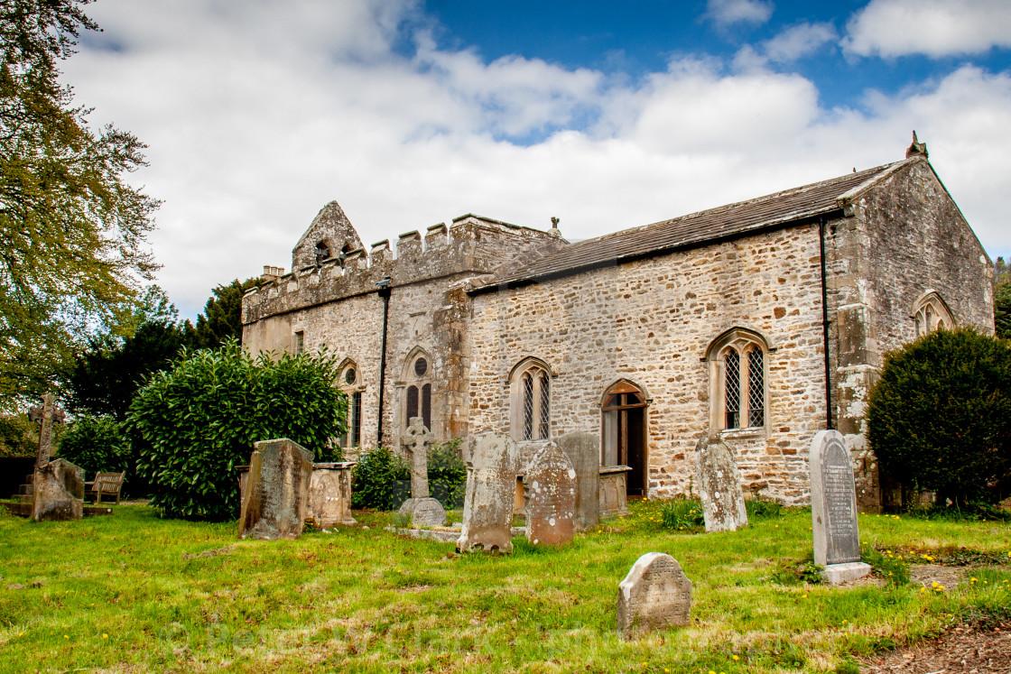 """Church of St Edmund King and Martyr, Marske, North Yorkshire"" stock image"