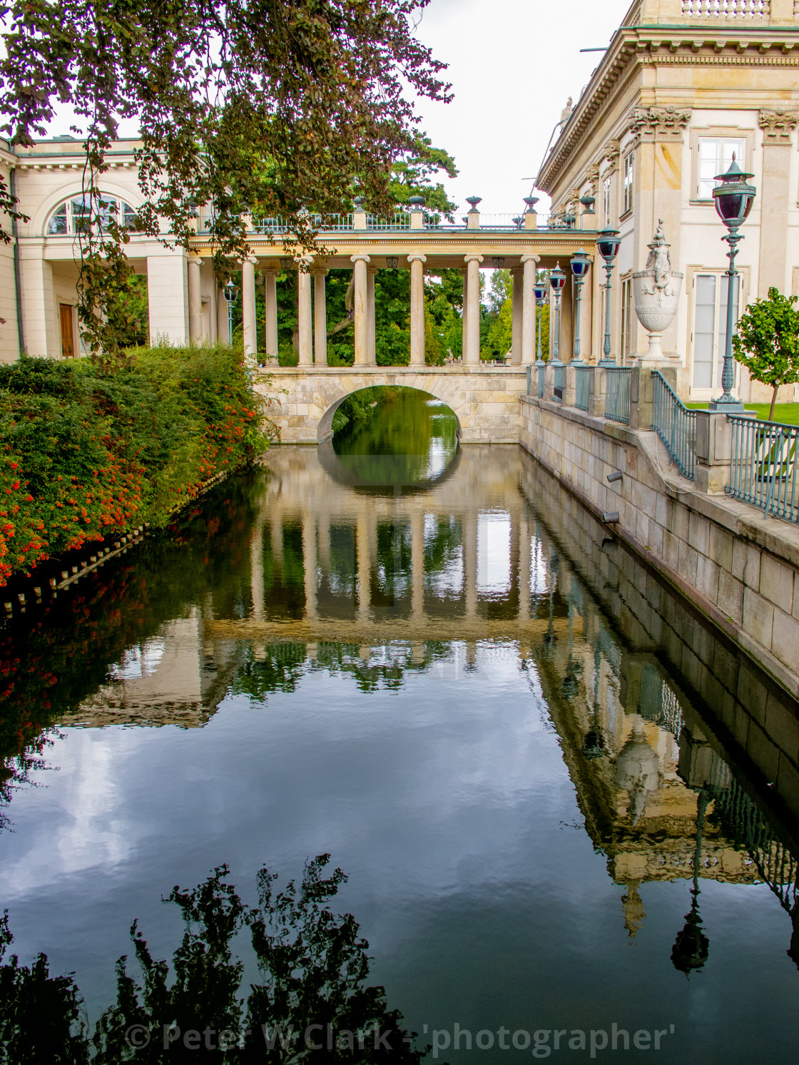 'Palace on the Isle', in Warsaw's Royal Baths Park, the city's largest park.