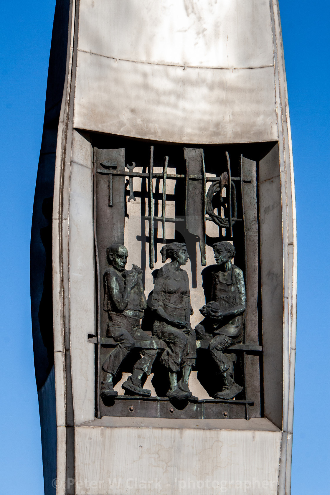 """Monument to the Fallen Shipyard Workers of 1970 Gdansk, Poland"" stock image"