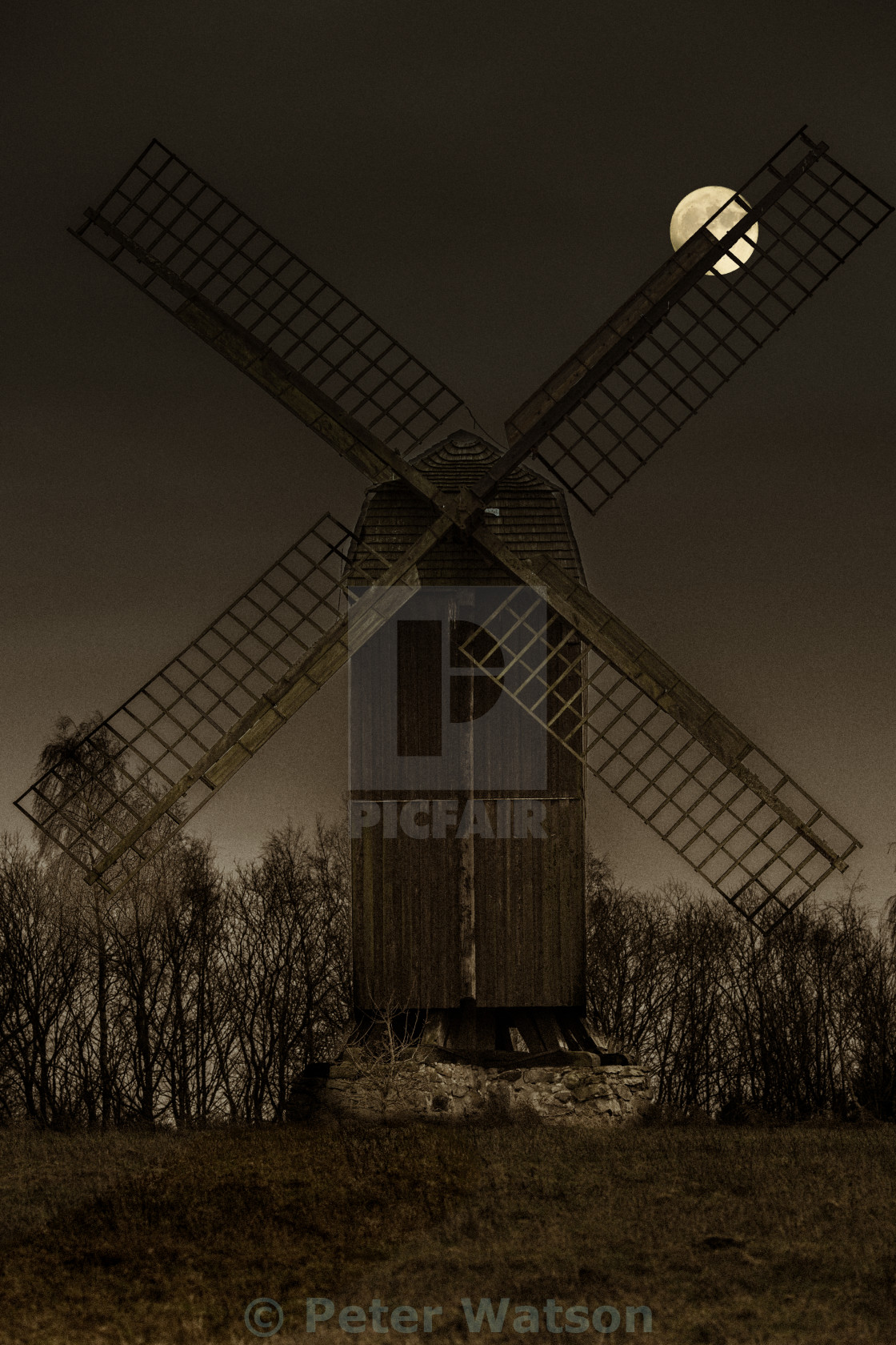"""Evening Mill"" stock image"