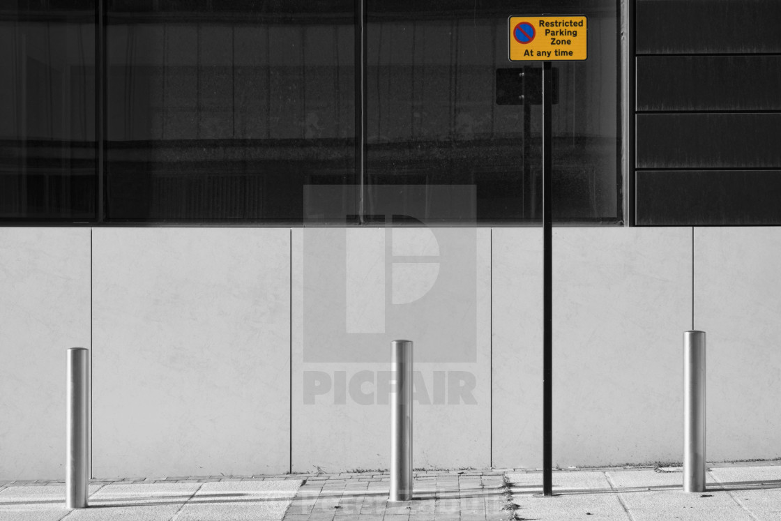 """Restricted Parking"" stock image"