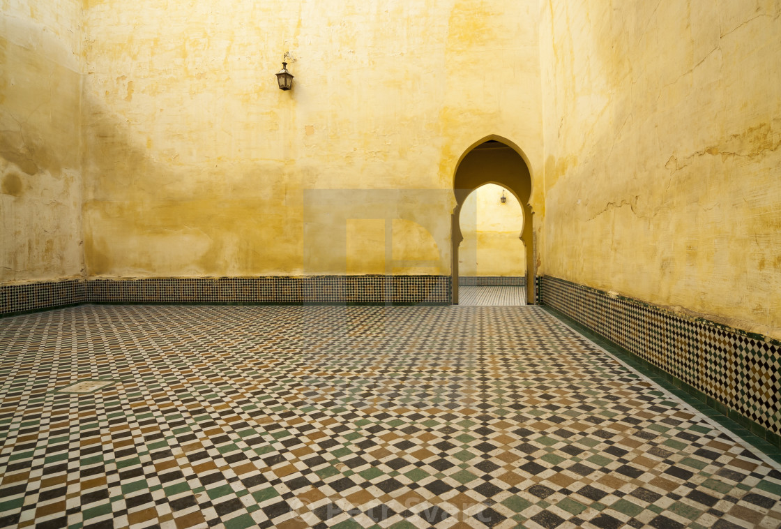 """Mausoleum of Moulay Ismail, Meknes"" stock image"