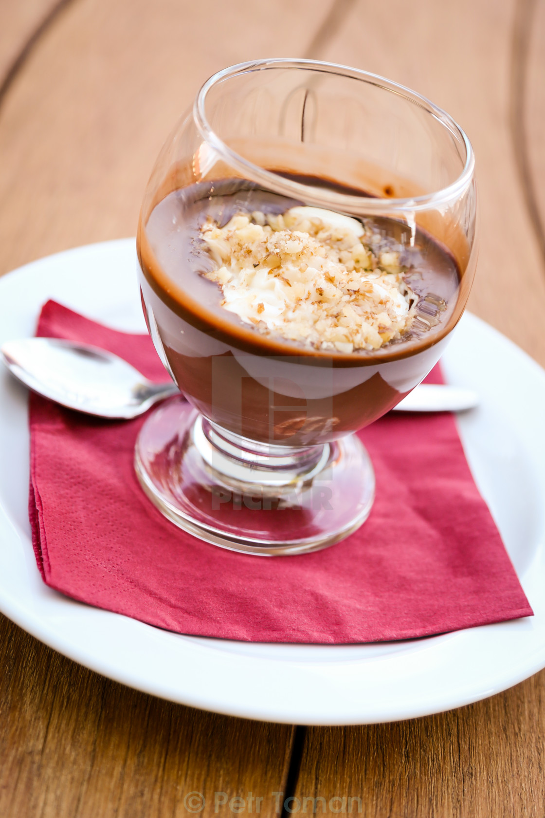 """Chocolate with curd"" stock image"