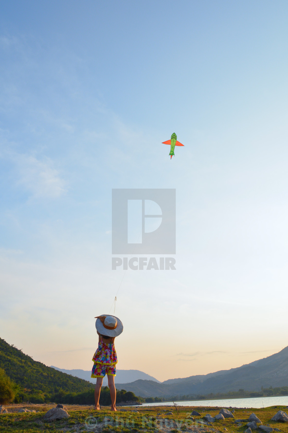 """Fly a kite"" stock image"