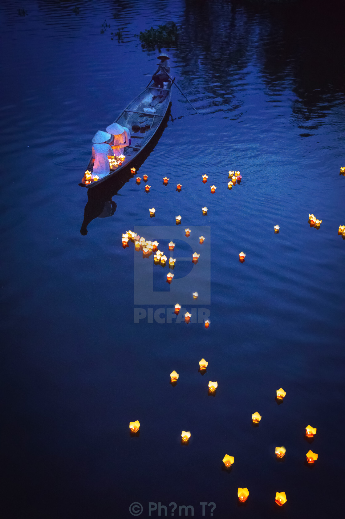 """Praying on the river 1"" stock image"