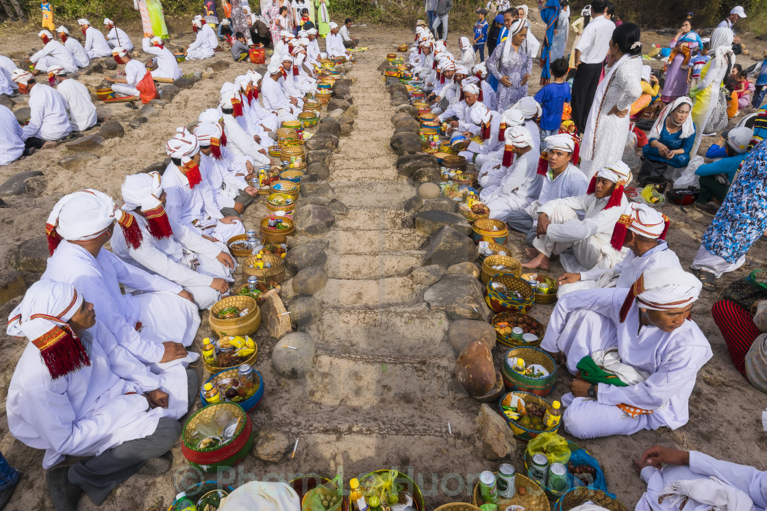 """The Chams Muslim celebrating the ramadan at their sanctuary land"" stock image"