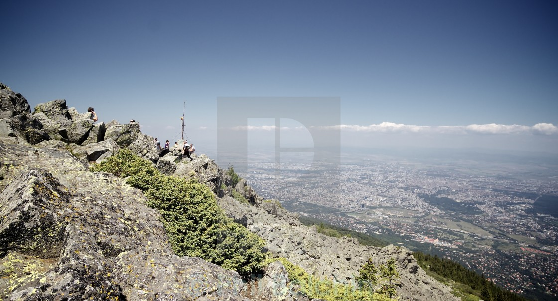 """View from Mt Vitosha"" stock image"
