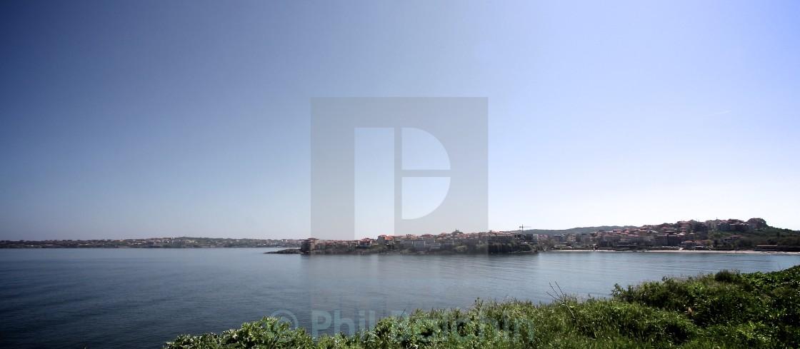 """The Black Sea at Sozopol"" stock image"