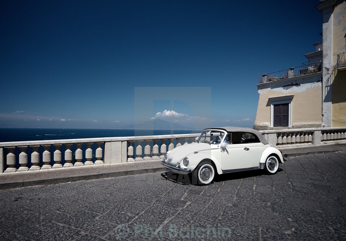 """VW Beatle Wedding Car"" stock image"