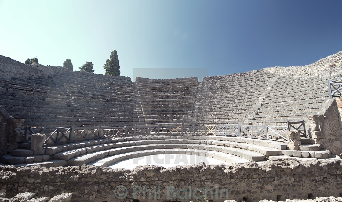 """Theatre at Pompeii"" stock image"